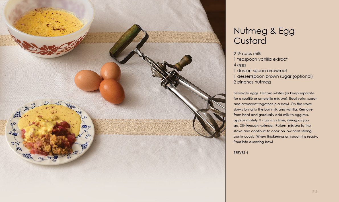 nutmeg and egg custard